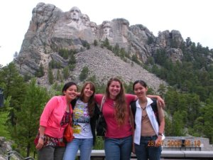 "On my last trip to South Dakota, I met up with my friend Van (far left), who came to the U.S. from Vietnam for a summer and got a job as a hotel housekeeper near Mount Rushmore. She and her roommates were pretty over the attraction of the monument by the time I arrived in late July, but I was absolutely thrilled to be there. ""These are MY presidents!"" I kept exclaiming. ""This is MY mountain!"""