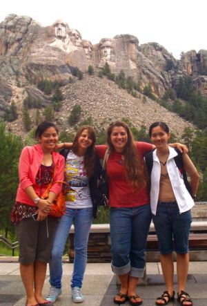 I visited Mount Rushmore National Monument on a 2009 road trip across the country, where I met up with two friends from Vietnam and one from Lithuania who had come to the U.S. for the summer. Our decisions as American voters have impacts on the rest of the world, and I hope we make choices that benefit those within our borders as well as on foreign shores.